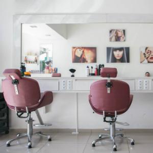 美容室の内装の画像